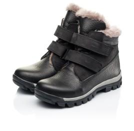 Детские зимние ботинки на меху Woopy Orthopedic черные для мальчиков натуральный нубук, кожа размер 31-37 (7170) Фото 3
