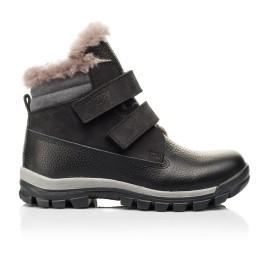 Детские зимние ботинки на меху Woopy Orthopedic черные для мальчиков натуральный нубук, кожа размер 31-37 (7170) Фото 4