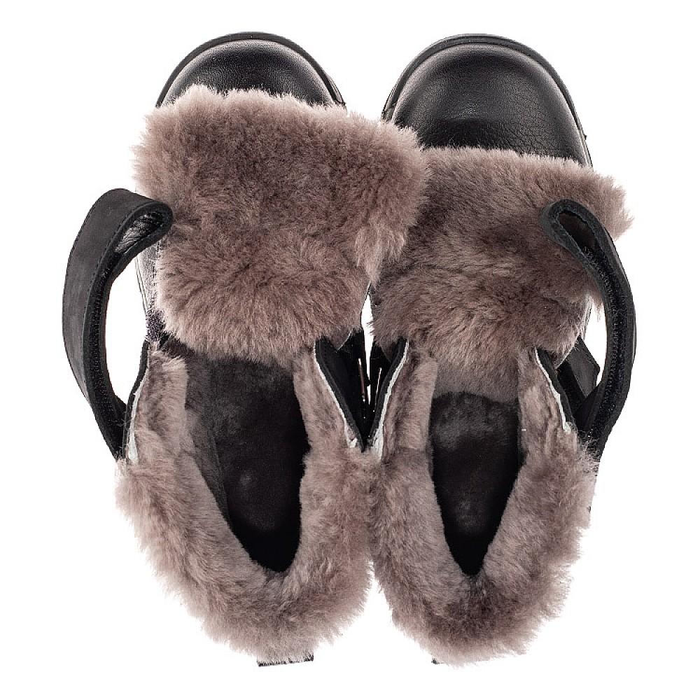 Детские зимние ботинки на меху Woopy Orthopedic черные для мальчиков натуральный нубук, кожа размер 28-40 (7170) Фото 5