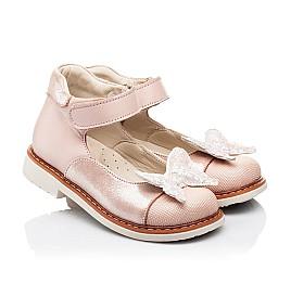 Детские туфли Woopy Orthopedic розовые для девочек натуральная кожа и нубук размер 23-30 (7171) Фото 1