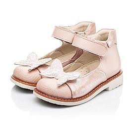 Детские туфли Woopy Orthopedic розовые для девочек натуральная кожа и нубук размер 23-30 (7171) Фото 3