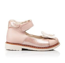 Детские туфли Woopy Orthopedic розовые для девочек натуральная кожа и нубук размер 23-30 (7171) Фото 4