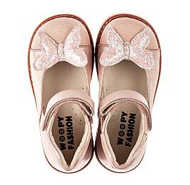 Детские туфли Woopy Orthopedic розовые для девочек натуральная кожа и нубук размер 23-30 (7171) Фото 5