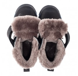 Детские зимние ботинки на меху Woopy Fashion темно-синие для мальчиков натуральный нубук OIL размер 22-30 (7172) Фото 5