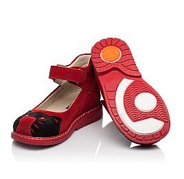 Детские туфли Woopy Orthopedic красные для девочек натуральная замша размер 22-32 (7173) Фото 2