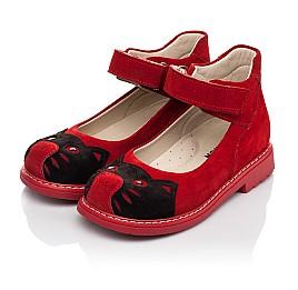 Детские туфли Woopy Orthopedic красные для девочек натуральная замша размер 22-32 (7173) Фото 3