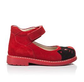 Детские туфли Woopy Orthopedic красные для девочек натуральная замша размер 22-32 (7173) Фото 4