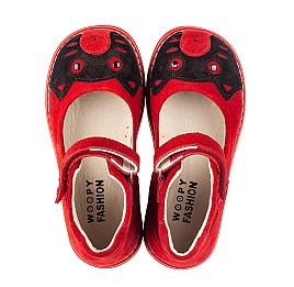 Детские туфли Woopy Orthopedic красные для девочек натуральная замша размер 22-32 (7173) Фото 5