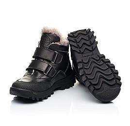 Детские зимние ботинки на меху Woopy Fashion черные для мальчиков натуральная кожа размер 22-37 (7176) Фото 2