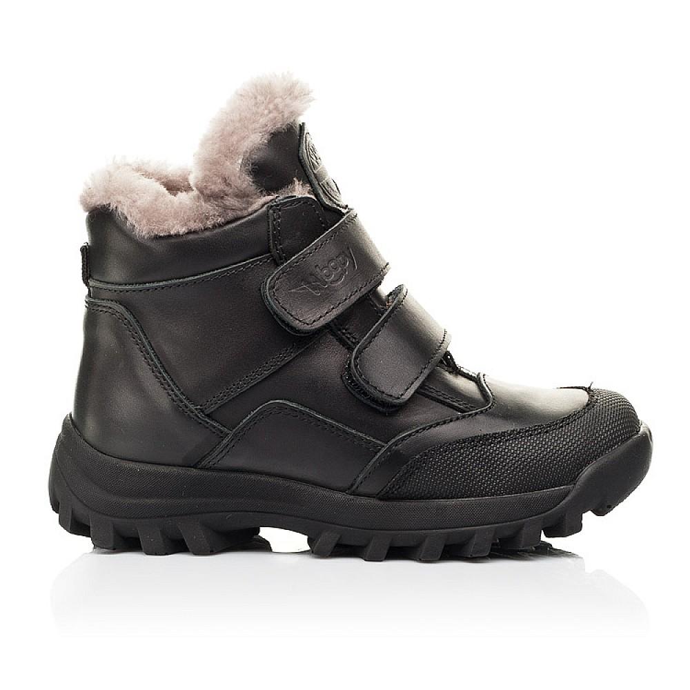 Детские зимние ботинки на меху Woopy Fashion черные для мальчиков натуральная кожа размер 22-40 (7176) Фото 4