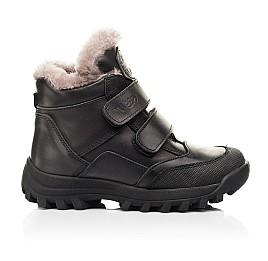 Детские зимние ботинки на меху Woopy Fashion черные для мальчиков натуральная кожа размер 22-37 (7176) Фото 4