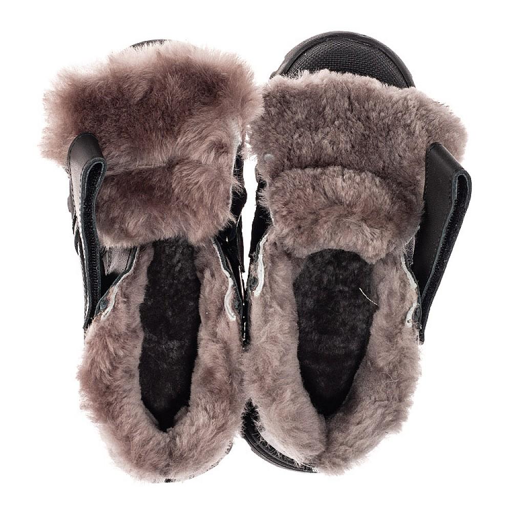 Детские зимние ботинки на меху Woopy Fashion черные для мальчиков натуральная кожа размер 22-40 (7176) Фото 5