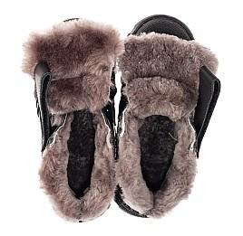 Детские зимние ботинки на меху Woopy Fashion черные для мальчиков натуральная кожа размер 22-37 (7176) Фото 5