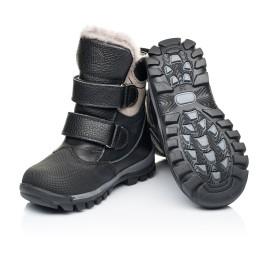 Детские зимние ботинки на меху Woopy Fashion черные для мальчиков натуральная кожа и нубук размер 21-21 (7179) Фото 2