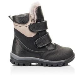 Детские зимние ботинки на меху Woopy Fashion черные для мальчиков натуральная кожа и нубук размер 21-21 (7179) Фото 4