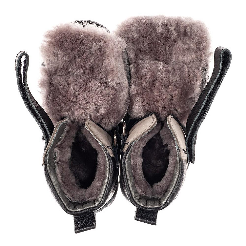 Детские зимние ботинки на меху Woopy Fashion черные для мальчиков натуральная кожа и нубук размер 21-33 (7179) Фото 5