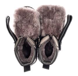 Детские зимние ботинки на меху Woopy Fashion черные для мальчиков натуральная кожа и нубук размер 21-21 (7179) Фото 5