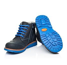 Детские демисезонные ботинки Woopy Orthopedic синие для мальчиков натуральный нубук размер 22-36 (7180) Фото 2