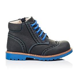 Детские демисезонные ботинки Woopy Orthopedic синие для мальчиков натуральный нубук размер 22-36 (7180) Фото 4