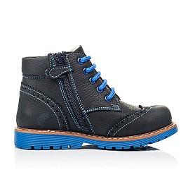 Детские демисезонные ботинки Woopy Orthopedic синие для мальчиков натуральный нубук размер 22-36 (7180) Фото 5