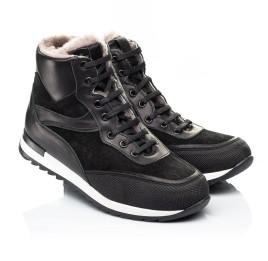 Детские зимние ботинки на меху Woopy Fashion черные для мальчиков натуральная кожа и замша размер - (7181) Фото 1