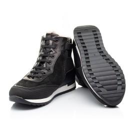Детские зимние ботинки на меху Woopy Fashion черные для мальчиков натуральная кожа и замша размер - (7181) Фото 2