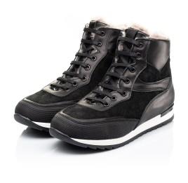Детские зимние ботинки на меху Woopy Fashion черные для мальчиков натуральная кожа и замша размер - (7181) Фото 3
