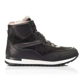 Детские зимние ботинки на меху Woopy Fashion черные для мальчиков натуральная кожа и замша размер - (7181) Фото 4