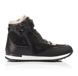 Детские зимние ботинки на меху Woopy Fashion черные для мальчиков натуральная кожа и замша размер - (7181) Фото 5