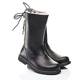 Детские зимние сапоги на меху Woopy Orthopedic черные для девочек натуральная кожа размер 26-31 (7183) Фото 1