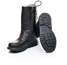 Детские зимние сапоги на меху Woopy Orthopedic черные для девочек натуральная кожа размер 26-31 (7183) Фото 2