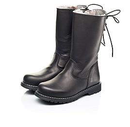 Детские зимние сапоги на меху Woopy Orthopedic черные для девочек натуральная кожа размер 26-31 (7183) Фото 3