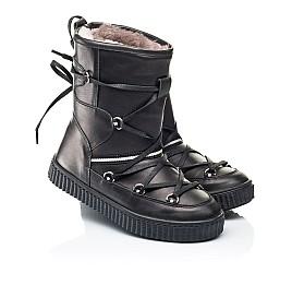 Детские зимние сапоги на меху Woopy Fashion черные для девочек натуральная кожа размер 26-40 (7184) Фото 1