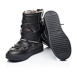 Детские зимние сапоги на меху Woopy Fashion черные для девочек натуральная кожа размер 26-40 (7184) Фото 2