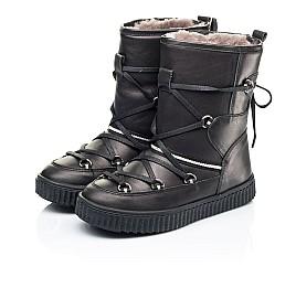 Детские зимние сапоги на меху Woopy Fashion черные для девочек натуральная кожа размер 26-40 (7184) Фото 3