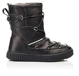 Детские зимние сапоги на меху Woopy Fashion черные для девочек натуральная кожа размер 26-40 (7184) Фото 4