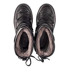 Детские зимние сапоги на меху Woopy Fashion черные для девочек натуральная кожа размер 26-40 (7184) Фото 5