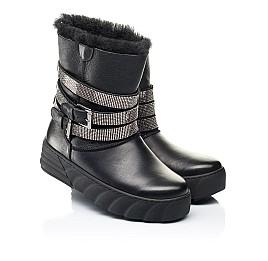 Детские зимние сапоги на меху Woopy Fashion черные для девочек натуральная кожа размер 32-39 (7185) Фото 1