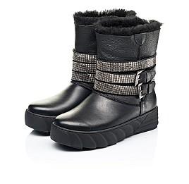 Детские зимние сапоги на меху Woopy Fashion черные для девочек натуральная кожа размер 32-39 (7185) Фото 3