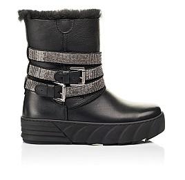 Детские зимние сапоги на меху Woopy Fashion черные для девочек натуральная кожа размер 32-39 (7185) Фото 4
