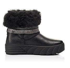 Детские зимние сапоги на меху Woopy Fashion черные для девочек натуральная кожа размер 32-39 (7185) Фото 5
