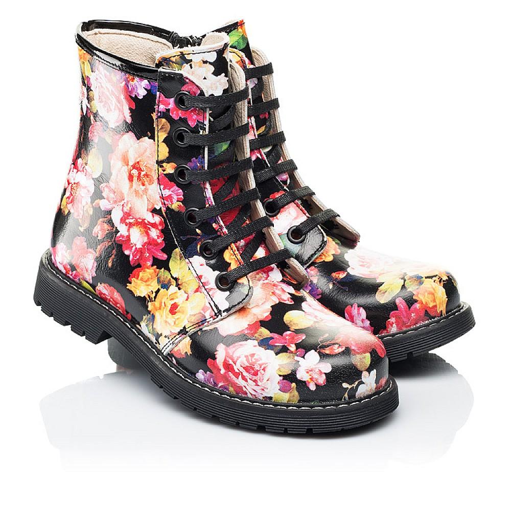 Детские демисезонные ботинки Woopy Orthopedic разноцветные для девочек натуральная кожа размер 25-38 (7188) Фото 1