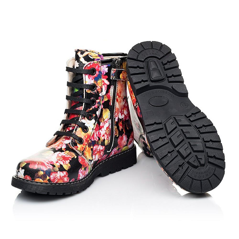 Детские демисезонные ботинки Woopy Orthopedic разноцветные для девочек натуральная кожа размер 25-38 (7188) Фото 2