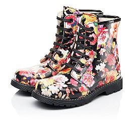 Детские демисезонные ботинки Woopy Orthopedic разноцветные для девочек натуральная кожа размер 25-38 (7188) Фото 3