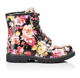 Детские демисезонные ботинки Woopy Orthopedic разноцветные для девочек натуральная кожа размер 25-38 (7188) Фото 4