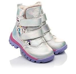 Детские зимние ботинки на меху Woopy Fashion разноцветные для девочек натуральная кожа размер 21-21 (7189) Фото 1