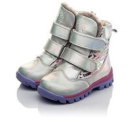 Детские зимние ботинки на меху Woopy Fashion разноцветные для девочек натуральная кожа размер 21-21 (7189) Фото 3