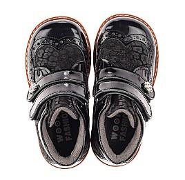 Детские демисезонные ботинки Woopy Orthopedic черные для девочек лаковая кожа, нубук размер 19-30 (7190) Фото 5