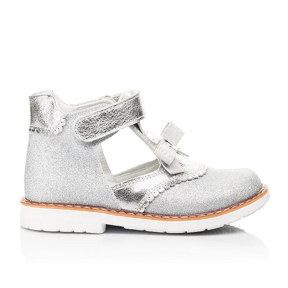 Детские туфли Woopy Orthopedic серебряные для девочек натуральная кожа, искусственный материал размер 23-30 (7195) Фото 4