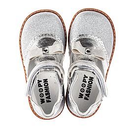 Детские туфли Woopy Orthopedic серебряные для девочек натуральная кожа, искусственный материал  размер 23-30 (7195) Фото 5
